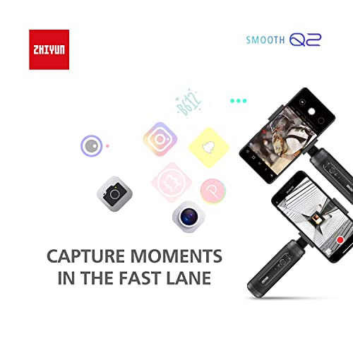 for Samsung Galaxy S10 for Huawei P30 with Time-lapse Vertigo Shot Object Tracking Panorama,Pocket Size Zhiyun Smooth Q2 3-Axis Handheld Smartphone Gimbal Stabilizer for iPhone 11 Pro X XS Max