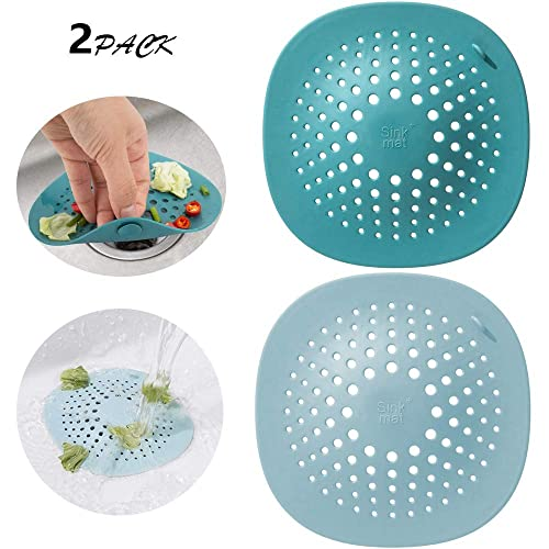 Silicone Drain Cover Hair Catcher Waste Stopper Prevent Clogging Bathroom UK